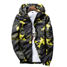 Wholesale Mens Casual Spring Jackets - new Spring Autumn Mens Casual Camouflage Hoodie Jacket Men Waterproof Clothes Men's Windbreaker Coat Male Outwear XS-4XL
