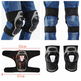 Wholesale bike brace - 1pair Adjustable Kneepads Support protector Brace Protective Gear Safety Guard Strap For motorcycles Cycling bike skateboard GGA175 10sets