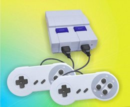 Wholesale Tv Boxes For Shipping - Mini Game Console Video Handheld for SNES and nes games consoles with retail box FREE SHIPPING DHL