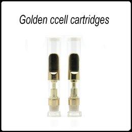 Wholesale New E Cig Tanks - New Golden CCELL Cartridges CRE-C Atomizer CE3 Tank O Pen Vape E-Cig Ceramic Glass Atomizer Thick Oil Tank Free DHL
