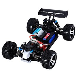 Wholesale Radio Control Off Road - Wltoys 2.4G Radio Remote Control RC Car Kid Toy Model Scale 1:18 New Shockproof Rubber wheels Buggy Highspeed Off-Road +NB