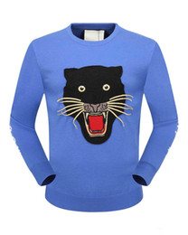 Wholesale Cardigans Cats - Fashion Cat Head Pattern cardigan Knitted designs Autumn Dark Blue O-Neck Casual cashmere Mens Sweaters Pullovers brand Napapijri clothes