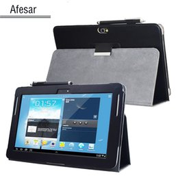Argentina GT N8000 N8010 N8013 Note 10.1 (versión 2012) Cubierta avanzada de soporte de cuero para Samsung N8005 N8020 SCH-I925 Funda para tableta cheap advanced case Suministro