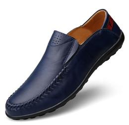 2019 sapatas grandes dos pés Tamanho grande calçados casuais outono novos ervilhas dos homens sapatos de couro conjuntos de pés respirável sapatos de condução b159 desconto sapatas grandes dos pés