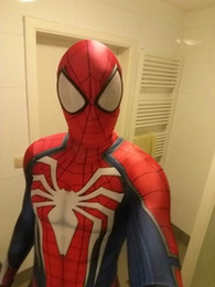 NUEVO PS4 INSOMNIAC SPIDERMAN SUIT 3D Print Spandex Games Spidey Cosplay Suit Halloween Cosplay Disfraces de hombre araña desde fabricantes