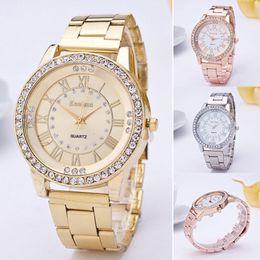 Wholesale bronze bling - watches women bling fashion luxury watch Crystal Rhinestone Stainless Steel Analog Quartz Wrist Watch relojes mujer 2017