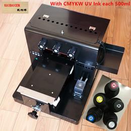 2019 kommerzielle etikettendrucker Kaibaicen A4 Kleiner UV-Drucker für Leder Telefonkasten PVC-Platte / Acrylplatte / Holz- / Metallplatte Mit CE-frei mit UV-Tinte