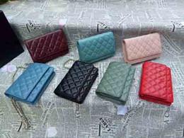 saco da praia do ouro das senhoras Desconto Pele de cordeiro Mini flap real de couro 20 cm muitas cores mulheres crossbody bag handbag