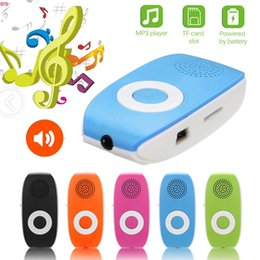2019 clip mp3 rosa giocatore mp3 HL Clip USB Supporto per lettore MP3 SD TF Card 32GB Sport Music Media Altoparlante incorporato Tono Mp3 Dropship Nov.4