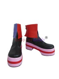 Luka megurine cosplay on-line-Vocaloid Cosplay Megurine Luka Meninas Curtas Cosplay Botas Sapatos