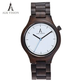 Wholesale Men Watches Eco - Wood Clock Designer Watches Men High Quality Wooden Watch Eco friendly Ebony Wood Band Watch Quartz Times Mechanism