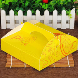 2019 fast-food-pakete Pizza-Verpackungs-Boxen zum Mitnehmen Fast Food Pizza-Kuchen-Lunchbox Verpackung Paper Box Backpaket QW7203 günstig fast-food-pakete