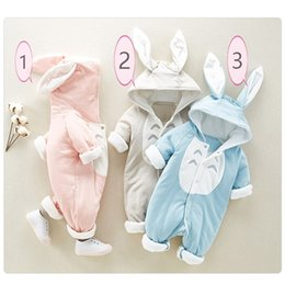 Wholesale Winter Essentials - Children's jumper Siamese chinchillas cap baby crawling out clothes cute baby essential pieceneakers can be optional with 3 colors to buy