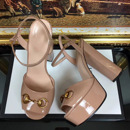 Wholesale Top Fashion Front Open - Big size 41 Top quality superstar shoes women Chunky heels real leather handals female party summer shoes