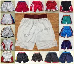 Wholesale red army pants - New Season Basketball Shorts Breathable Dwyane Wade Goran Dragic Hassan Whiteside Basketball Pants George Anthony Westbrook Sweatpants S-2XL