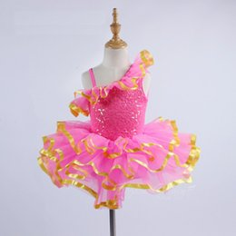 erwachsene schwan kostüm Rabatt Erwachsenen Ballett Trikot für Frauen Rose Red Pailletten Ballett Tanz Kleid Kinder Ballerina Kleidung Swan See Kostüm für Mädchen
