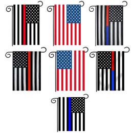 bandeiras brancas à venda Desconto Venda quente 30 * 45 cm EUA Bandeiras decoração do partido Linha Azul EUA Bandeira Preto, Branco E Azul bandeira Americana Jardim bandeira Do Berçário pátio Decoração