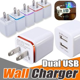 Wholesale Dual Ipad Dock - Dual USB Wall Charger US EU Plug 2.1A AC Power Adapter 2 Port For Smart Phone iPhone X 8 7 plus Samsung Note 8 S8 S7 LG NEXUS Tablet ipad