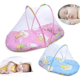 Wholesale Car Tent Canopy - New Baby Infant Portable Folding Travel Bed Crib Canopy Mosquito Net Tent Newborn Babies Car Bed Mosquito Nets drop ship
