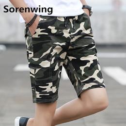 f4bd0a9d3f0 Sorenwing Men s Camouflage Army Cargo Shorts Men Cool Summer Hot Sale Cotton  Casual bermudas masculina Cotton workout shorts 27