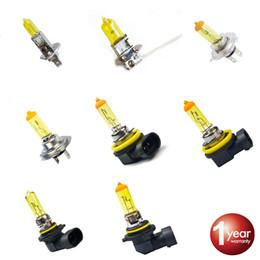 2020 bombillas amarillas h11 2X Bombilla halógena para faros delanteros de automóvil 1PCS H1 H3 H4 H7 H8 H11 9005 HB3 9006 HB4 12V 60 / 55W 3000K Xenon Luz antiniebla amarilla Foco bombillas amarillas h11 baratos
