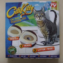 2019 kupfer-schubladen-knöpfe Citi kitty Haustier-Toiletten-Trainer-Welpen-Katzen-Toiletten-Wurf-Trainer-Katzen-Trainingsausrüstung Tropfenverschiffen Kleinkasten