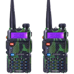 auriculares pola motorola Rebajas DHL libre baofeng UV-5R banda dual walkie talkie transmisor-receptor de radio de doble pantalla radio comunicador UV5R walkie talkie portátil conjunto