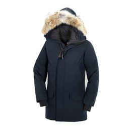 Parka d'hiver en Ligne-2019 Winter Fourrure Down Parka Homme Jassen Chaquetas Outerwear Big Fur Hooded Fourrure Manteau Canada Down Jacket Coat Hiver Doudoune