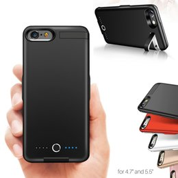 Wholesale Battery Cases For Iphone - 8000mAh Battery Charging Power Bank Charger Case Cover backclip Extended for iPhone 6 6S 7 8 Plus.