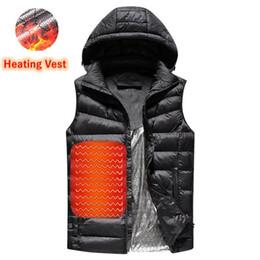 Hombres Nuevo Invierno Abajo Outwear USB Infrarrojo Calentamiento inteligente Chaleco térmico Térmico interior cálido Chaqueta de calefacción para hombres desde fabricantes