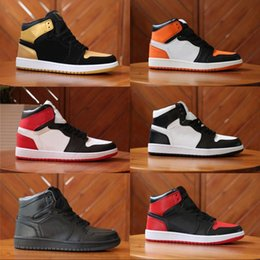 Wholesale High Top Training Shoes - Classic 1 OG Top Mens Basketball Shoes 1S OG High Training Collection of souvenir Color matching Sport Athletics Sneakers US 7-13