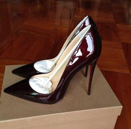Wholesale Kate Wedding Dresses - Ladies Designer Shoes Women Luxury So Kate 12cm Patent Leather Black Nude Heels Pigalle Fashion Wedding Shoes Women Pumps