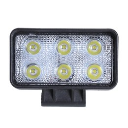 Wholesale Country Works - 18w 6000K Rectangle Offroad Driving Fog Headlight Spot LED Work Lights Engineering Overhaul Lights Searchlight Cross Country