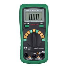 medidor de circuito Rebajas DHL MS8233D Pantalla LCD Multímetro Multifunción Digital Amperímetro Corriente de Capacitancia de Frecuencia Rango Medidor Voltímetro Eléctrico Ohmímetro