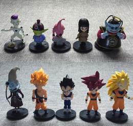 Wholesale Dragon Ball Freeza - Dragon ball z toy action figures New Arrive 10PCS set Dragonball figures Goku Vetega Freeza Whis Mark Gotenks DDA135