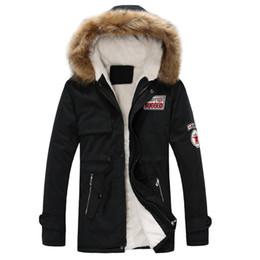 green hooded parka Australia - Winter Parka Men Coats 2018 Thick Warm Jacket Men Cotton Hooded Outwear Warm Coat Top Plus Velvet Couple Cotton Parka Coat