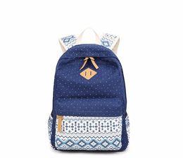 Wholesale fashion styles for teens - Women Canvas Backpack Female Schoolbag Girl Teens Feminine School Bags for Teenagers Bagpack Laptop Backbag sac a dos femme