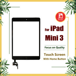 Wholesale Apple Ipad Camera - Glass For iPad MINI ipad mini 3 Screen Replacement Front Touch Screens Digitizer with IC Connector and Home Button Adhesive Camera Holder