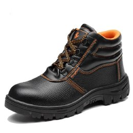 footwear construction Coupons - AMSHCA Footwear Construction Steel Toe Cap Work Safety Shoes Man Puncture Proof Plate Ankle Boot Anki Hit Indestructible Shoes
