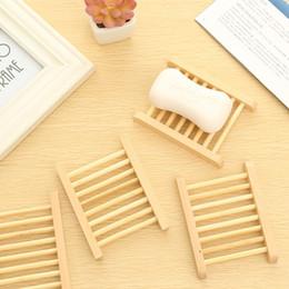 2019 portaoggetti in bambù Piatti in legno di bambù naturale portasapone portasapone in legno portasapone portasapone contenitore per vasca doccia bagno 241