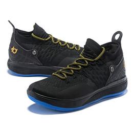Kevin durant scarpe verde nero online-scarpe da pallacanestro da uomo KD 11 più recenti Scarpe da basket KEVIN DURANT 11s oro bianco verde nero sneakers sportive di alta qualità taglia US7-12