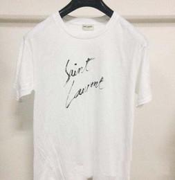 2019 vestido de transporte rápido Novo T-Shirt SLP top Quality Patchwork Top Tees Skate Streetwear SAINT T-shirt das mulheres Skates Carta impressão lábios T Shirt