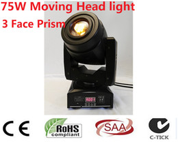 Wholesale Moving Faces - Wholesale- 4X 75W LED Moving Head 3 Face PrisSpot Stage Lighting DMX Channel Hi-Quality Hot Sales Prism Led Moving Light New Design