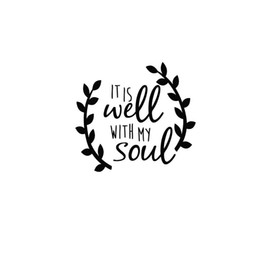 Wholesale Car Wells - 11.5*10CM It is well with my soul Faith Peacefull style car sticker laptop decal CA-159