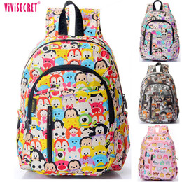 34abfe86bbb9 Children  s Tsum Waterproof Nylon Kindergarten School Bags Backpacks For Girls  Boys Kids Kawaii Cartoon Mochila Escolar Kids
