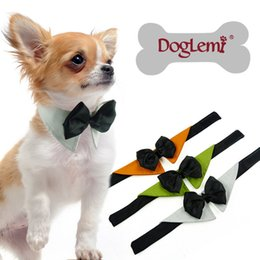 Wholesale Fall Toys - 3 Colors Fashion Cute Dog Puppy Cat Kitten Pet Toy Kid Bow Tie Necktie Clothes decoration