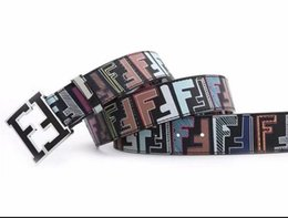Wholesale two sided belt - Brand Designer Belts Men High Quality Two sided use Cowhide Fashion Leather Buckle Men Belt Luxury Bussiness Casual