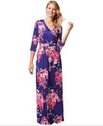 Migliori oscillazioni online-L'Europa e gli Stati Uniti vestono l'abito delle donne nuove best-seller maniche stampate cintura gonna lunga grande swing S-XXL 377