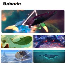 Tappetino per mouse Babeite in fantasia fantasy con balena bella Anime Lockedge per tappetino mouse design 300 * 900 * 2mm e 400 * 900 * 2mm cheap beautiful mouse pads da bastoni da topo belli fornitori