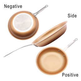 Wholesale Ceramic Coated Pans - Non-stick Copper Frying Pans with Coated Ceramic and Induction Cooking Oven & Dishwasher safe 24cm Kitchen Gadgets